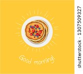 good morning banner with... | Shutterstock .eps vector #1307509327