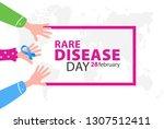 poster for rare disease... | Shutterstock .eps vector #1307512411