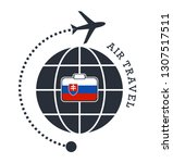 slovakia air travel. vector... | Shutterstock .eps vector #1307517511
