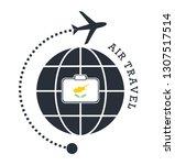 cyprus air travel. vector... | Shutterstock .eps vector #1307517514