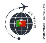 portugal air travel. vector... | Shutterstock .eps vector #1307517541