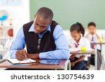 african american primary school ... | Shutterstock . vector #130754639