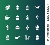 flora icon set. collection of... | Shutterstock .eps vector #1307552374