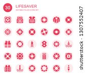 lifesaver icon set. collection... | Shutterstock .eps vector #1307552407