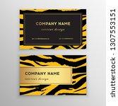 business card trendy zebra and... | Shutterstock .eps vector #1307553151