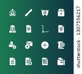 add icon set. collection of 16... | Shutterstock .eps vector #1307556217