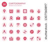 cartography icon set....   Shutterstock .eps vector #1307560897