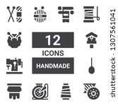 handmade icon set. collection... | Shutterstock .eps vector #1307561041