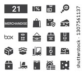 merchandise icon set.... | Shutterstock .eps vector #1307561137