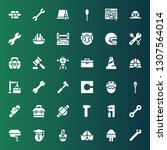 build icon set. collection of... | Shutterstock .eps vector #1307564014