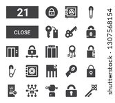 close icon set. collection of... | Shutterstock .eps vector #1307568154