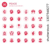 peace icon set. collection of... | Shutterstock .eps vector #1307568277
