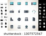 computer hardware icons. pc... | Shutterstock .eps vector #1307572567