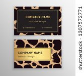 business card trendy leopard... | Shutterstock .eps vector #1307572771