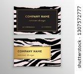 business card trendy zebra and... | Shutterstock .eps vector #1307572777
