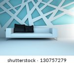a 3d rendering of light blue... | Shutterstock . vector #130757279