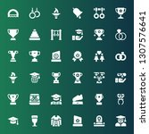 ceremony icon set. collection... | Shutterstock .eps vector #1307576641