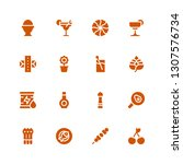 fresh icon set. collection of... | Shutterstock .eps vector #1307576734