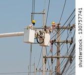 electrical maintenance | Shutterstock . vector #130757741