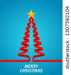christmas tree made of red... | Shutterstock . vector #1307582104