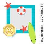 summer time raster banner... | Shutterstock . vector #1307586754