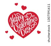 happy valentine's day... | Shutterstock .eps vector #1307591611