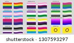 flags of the lgbt pride. vector ... | Shutterstock .eps vector #1307593297