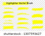 raster highlighter brush set.... | Shutterstock . vector #1307593627