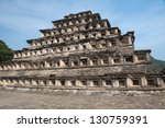 pyramid of the niches  el tajin ... | Shutterstock . vector #130759391
