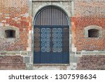 unique doors of the old... | Shutterstock . vector #1307598634