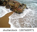 White Foaming Sea Water...