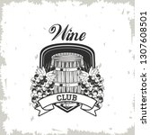 wine club emblem | Shutterstock .eps vector #1307608501