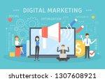 digital marketing concept....   Shutterstock . vector #1307608921