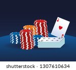 casino game cartoons | Shutterstock .eps vector #1307610634