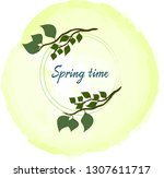 time for spring | Shutterstock .eps vector #1307611717