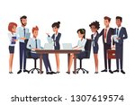 executive business coworkers... | Shutterstock .eps vector #1307619574