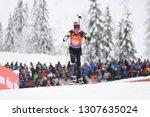 Small photo of Hochfilzen, Austria - December 16, 2018: Grete Gaim of Estonia competes in the relay at the BMW IBU World Cup Biathlon 2