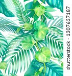 watercolor background with...   Shutterstock . vector #1307637187