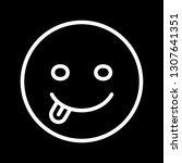 vector tongue emoji icon  | Shutterstock .eps vector #1307641351