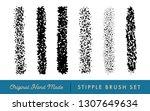 stipple brush set for texturing ... | Shutterstock .eps vector #1307649634