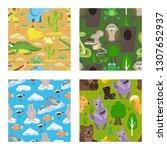 children fairy tale seamless... | Shutterstock .eps vector #1307652937