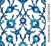 ottoman turkish tile pattern | Shutterstock .eps vector #1307663164