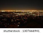 los angeles by night. city...   Shutterstock . vector #1307666941