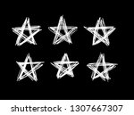 doodle set of black and white... | Shutterstock .eps vector #1307667307