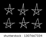 doodle set of black and white... | Shutterstock .eps vector #1307667334