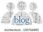 blog and social media concept... | Shutterstock . vector #130766885