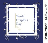 world graphic day vector design.... | Shutterstock .eps vector #1307672644