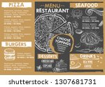restaurant cafe menu  template... | Shutterstock .eps vector #1307681731