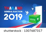 thailand general election 2019... | Shutterstock .eps vector #1307687317