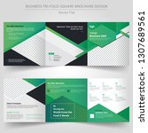 business templates for tri fold ... | Shutterstock .eps vector #1307689561